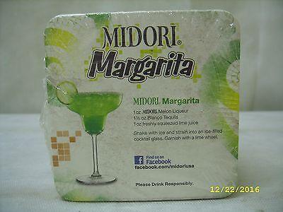 Liqueur Drink Recipes - Midori Margarita Liqueur - Drink Recipe Cardboard Coaster - 50 PACK *NOS*