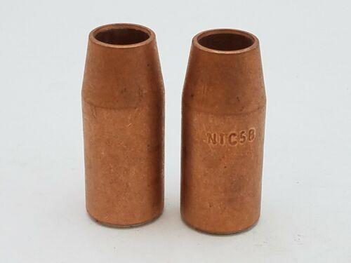 "2 Piece Lot Bernard N1C58 Copper 5/8"" Quick Tip Nozzle Self Insulated NOS"
