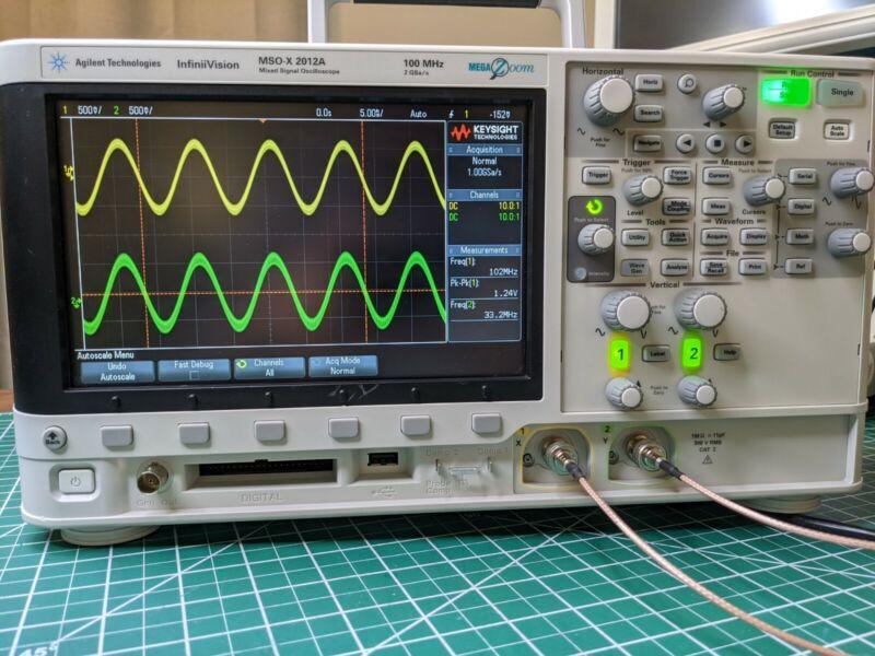 Agilent MSOX2012A 100MHz 2Ch+8Ch Oscilloscope/Logic Analyzer/Function Gen.