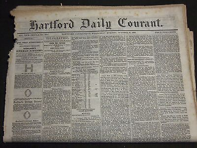 1866 Hartford Daily Courant Newspaper Lot Of 16 Different Issues   Np 2364