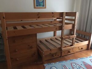 Bunkers Lo-Line Bunk Bed With Under Bed Drawers And Chest Of Drawers Doncaster East Manningham Area Preview