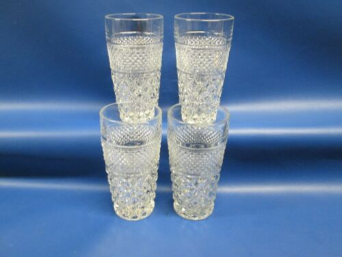 "Set of 4 A/H Wexford Clear Ice Tea Tumblers 61/4"" Tall 3 1/4"" W Holds 16 Ozs*"