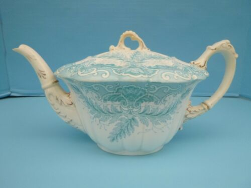 Wileman Foley Pre Shelley Blue Fern 4980 Teapot Empire Shape