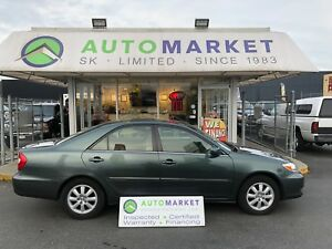 2002 Toyota Camry LE, SUNROOF, 155KM'S! FINANCE IT!