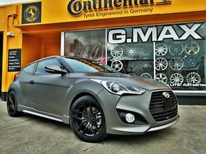 """G.MAX Flow Forged 18"""" Wheels and Continental Tyres for Veloster Mitcham Whitehorse Area Preview"""