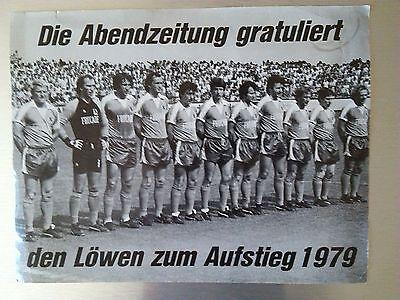 FOTO 1979 TSV 1860 München Löwen Bundesliga  Design 70ies 70er