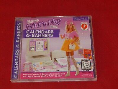 Barbie Print 'n' Play CD-Rom Calendars & Banners (Vintage)