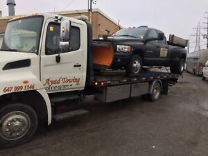 Tow truck and flatbed