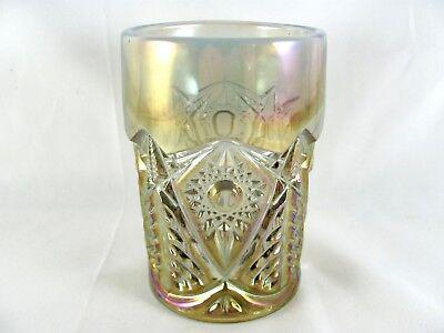 4l Crystal (4 L E Smith Valtec Crystal Lustre Glass Tumblers, 6 oz, iridescent, 4-1/4