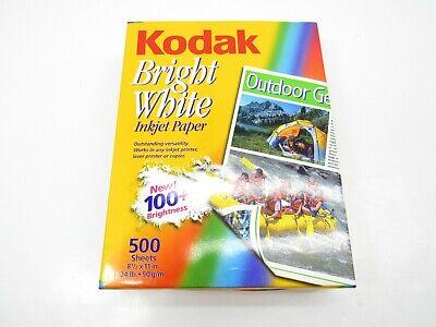 Vtg Kodak Bright White Inkjet Paper 500 Sheet 24lb. 100 Brightness Out Of Print