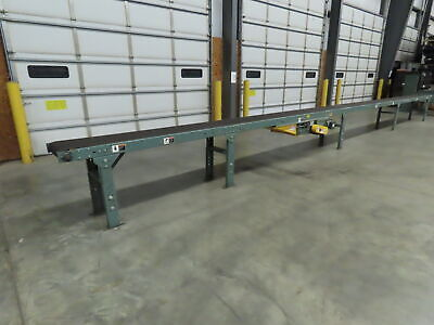 Hytrol 37 Slider Bed Belt Conveyor 16 Belt 1hp 3ph 480v 53 Fpm Center Drive