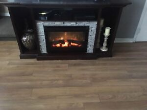Tv stand fireplace $300