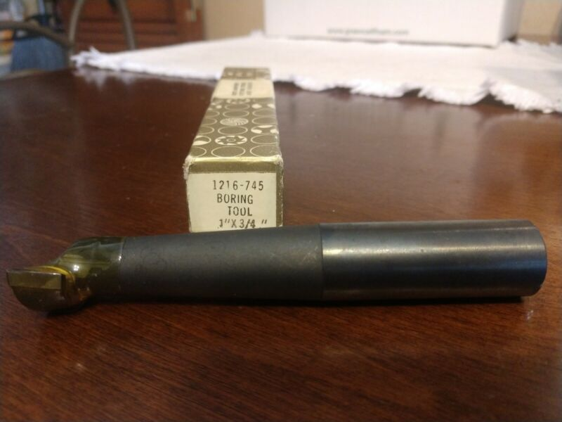"Vintage Pratt & Whitney Boring Tool-Machinists/Lathe 1"" x 3/4"" 1216-745-USA"