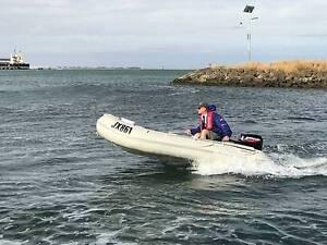 Quicksilver 340 SPORT 3.4m Inflatable Boat w/ 15HP Merc & Trailer Geelong Geelong City Preview