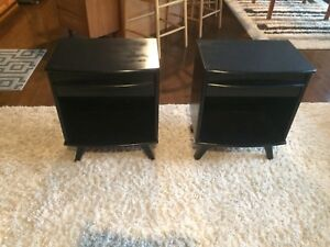 Refinished Mid Century Modern Nightstand tables
