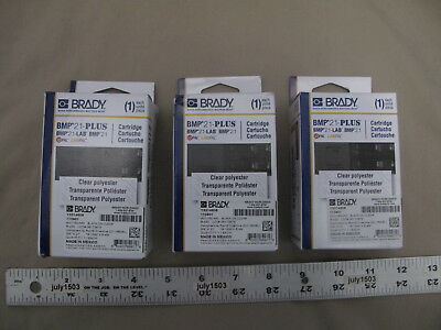 3 New Brady Label Cartridge M21-750-430 Blackclear Polyester 34 X 21 Bmp21