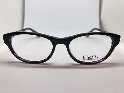 7f39a4ff15e8 NEW FYSH 3483 916 Purple 53.18.135 Eyeglass Optical Frames Glasses Womens