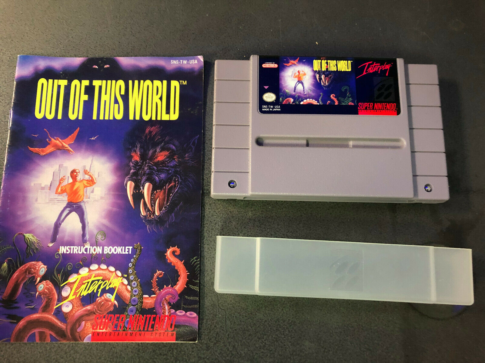Out Of This World Super Nintendo SNES, 1992 W/ Manual Authentic RARE Tested  - $20.50