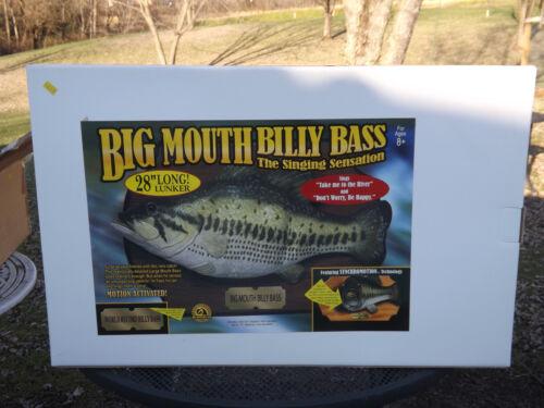 "Vintage Big Mouth Billy Bass 28"" The Big One NRFB w/Original Shipping Box"