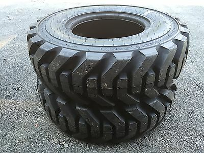 2 New 12.580-18 Galaxy Beefy Baby Backhoe Tires R4 - 14 Ply - 3532nd Tread