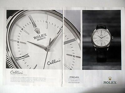 PUBLICITE-ADVERTISING :  ROLEX Cellini Time [2pages] 2015 Frojo,Montres (Cellini Time)