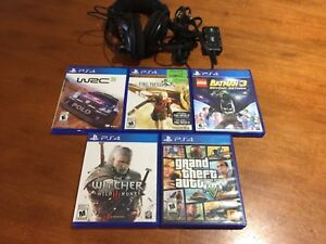 PS4 GAMES & HEADSET FOR SALE!