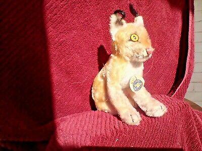 Vintage Sitting Steiff  - Luxy Lynx  In Storage over 40 years