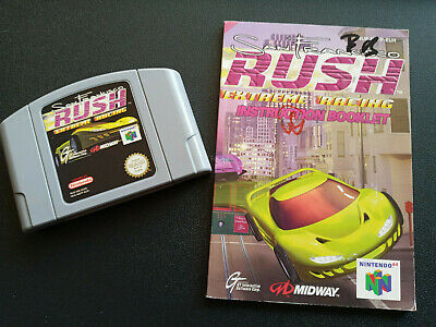 San Francisco Rush 1 N64 Nintendo 64 Loose Cartridge & Instructions Only PAL