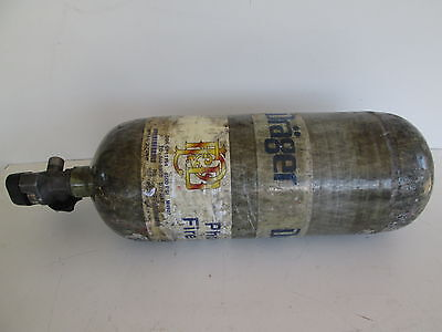 Drager 4500psi Fireman Scba Air Tank 45 Minute Carbon Wrapped 2008 Mfg Air Soft