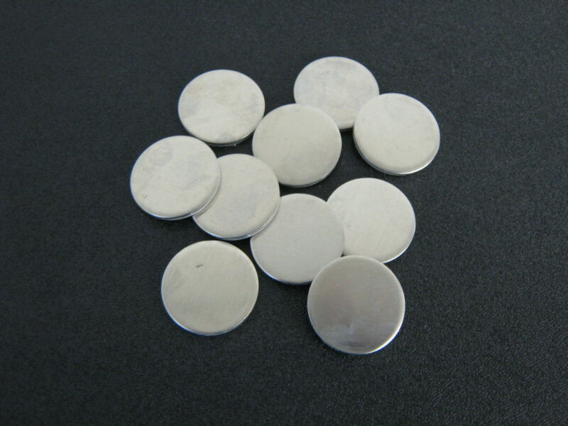 """1 1/4"""" Dia. Aluminum Disc. , 1/8"""" thick, alloy 5052-H32 - 10pcs."""