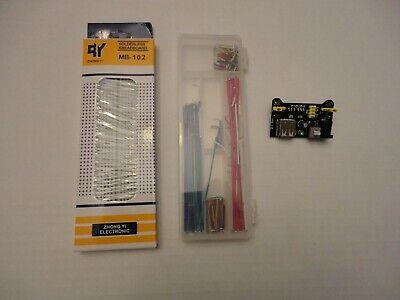 Hw-131 Mb-102 Solderless Prototype Building Breadboard Jumper Wire Kit Set Combo