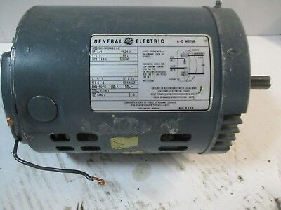 General Electric A-c Motor 14 Hp 1140 Rpm 115 V 5.3 A