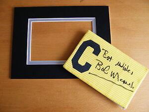 BOB-MONCUR-HAND-SIGNED-CAPTAINS-ARMBAND-free-mount-display-NEWCASTLE-UTD-COA