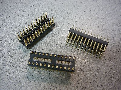 Board To Board Screw Machine Dip Header Connector 24-pin Dual Row 2.54mm 3pkg