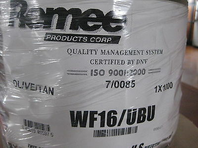 Spool Us Military Comm. Cable Remee Olivetan Wf16ubu 1000 Copper Roll New