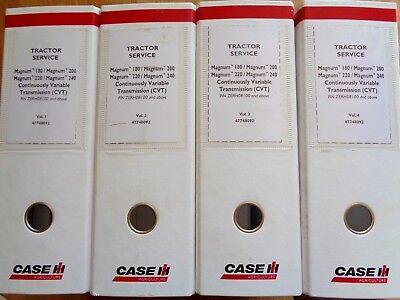 Case Ih Magnum 180 200 220 240 Cvt Tractor Factory Service Repair Manual Set Oem