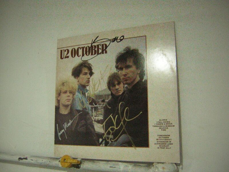 U2 Signed LP October By 4 Musicians