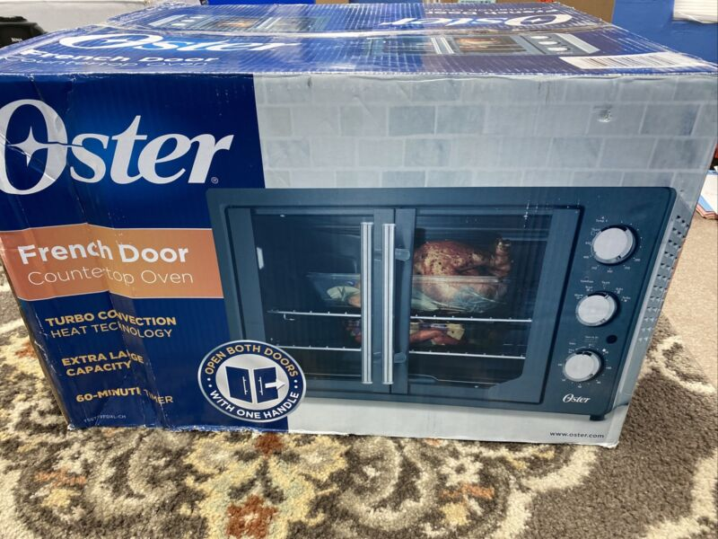 Oster - French Door Oven with Convection - Metallic Charcoal