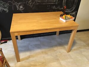 Solid wood kitchen table with 3 matching chairs