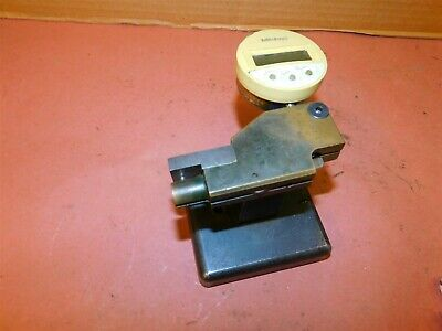 Mitutoyo 543-611 Digital Indicator With Custom Indicator Base Stand Lot 2