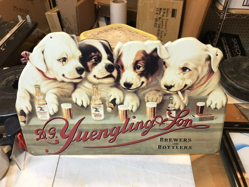 Yuengling Beer Puppy Dog Sign