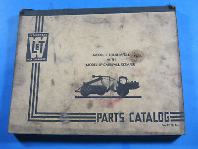 Letourneau Let Westinghouse C Tournapull Lp Carryall Scraper Parts Catalog
