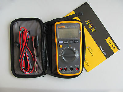 NEW FLUKE 17B F17B Digital Multimeter w/ Free Case w/ Fluke Test Leads TL175 on Rummage