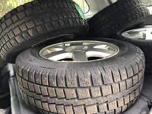 """235/65/17 Studded Winter Tires on 17"""" Wheels"""