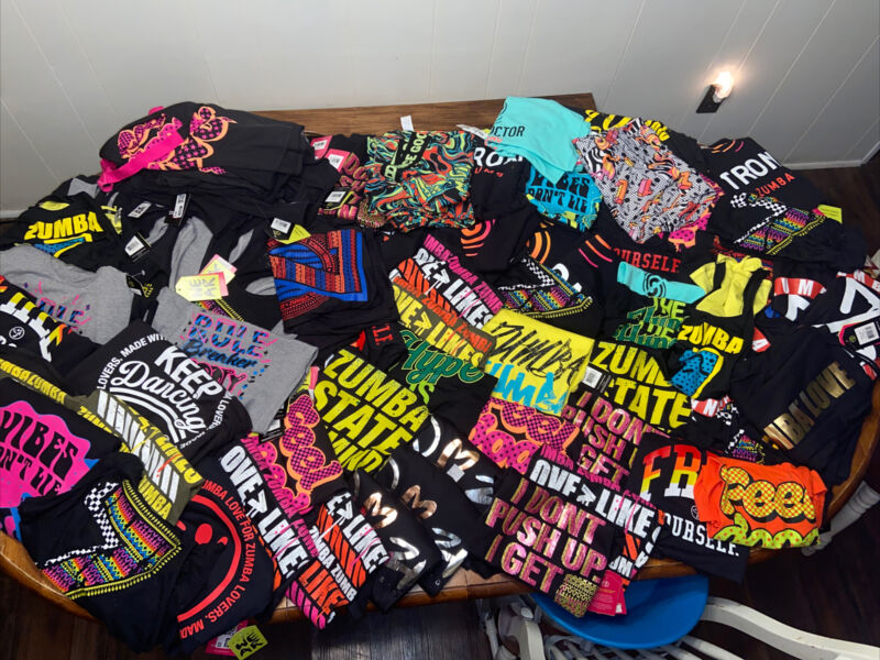 HUGE Zumba Wear Dance Tanks Tops LOT 100+ Pieces Resale Resell Make Money NEW