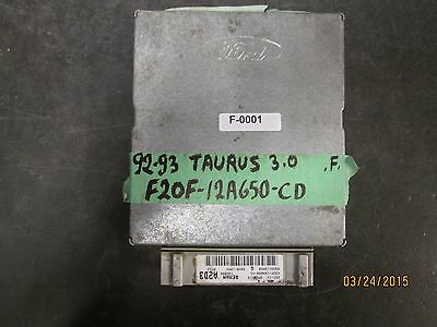 92 93 FORD TAURUS 3.0  FED' ECU  F20F-12A650-CD F-0001 *See item description
