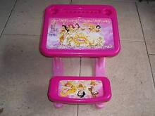 Disney Princess Table Chair Writing Desk V.G.C. East Cannington Canning Area Preview