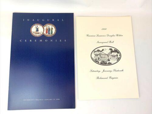 1990 Douglas Wilder Virginia Governor Inauguration Program and Ball Program