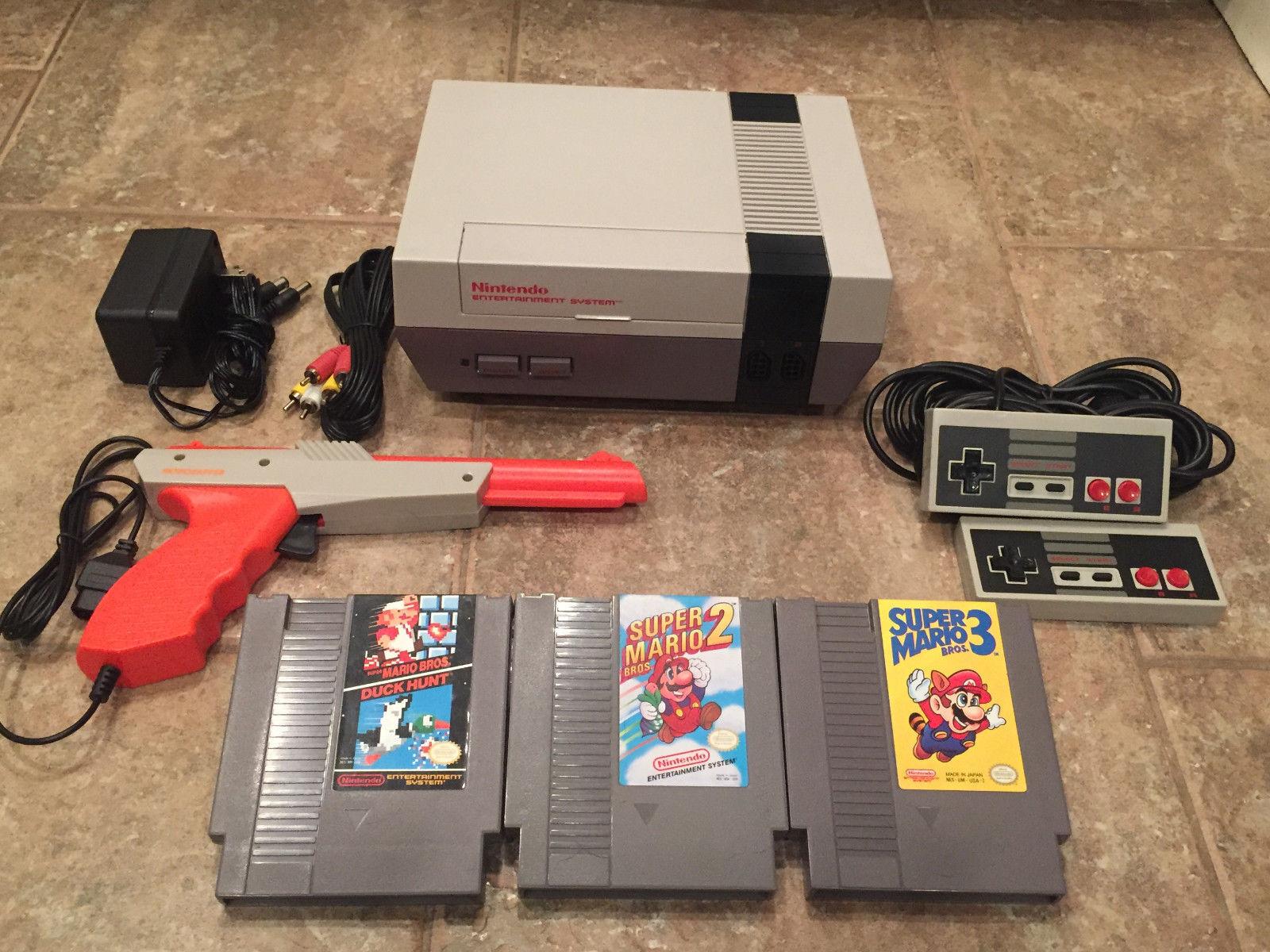 Nintendo Nes Console System Super Mario Bros 1 2 3 Original OEM Polished 72 Pin  Super Mario Bros 1 2 3