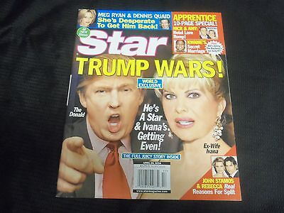 2004 April 26 Star Magazine   Donald Trump   Ivana Front Cover   O 6853